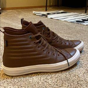 NEW Leather Hightop Converse! Sz 9.5